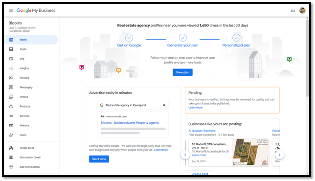 Go to Google My Business dashboard to change your listing
