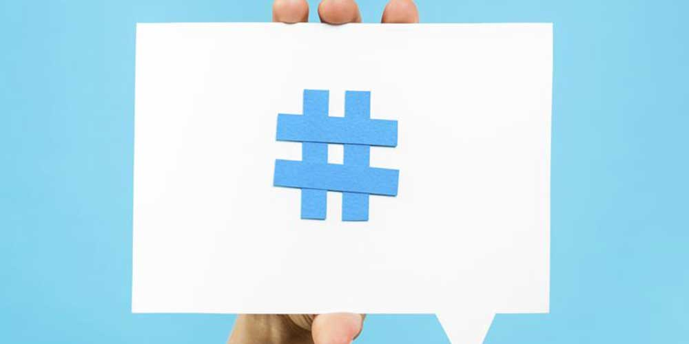 Increase visibility by using hashtags