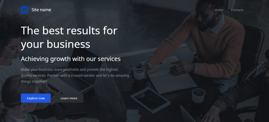 If you have a business site, pick the Default theme from Website Builder