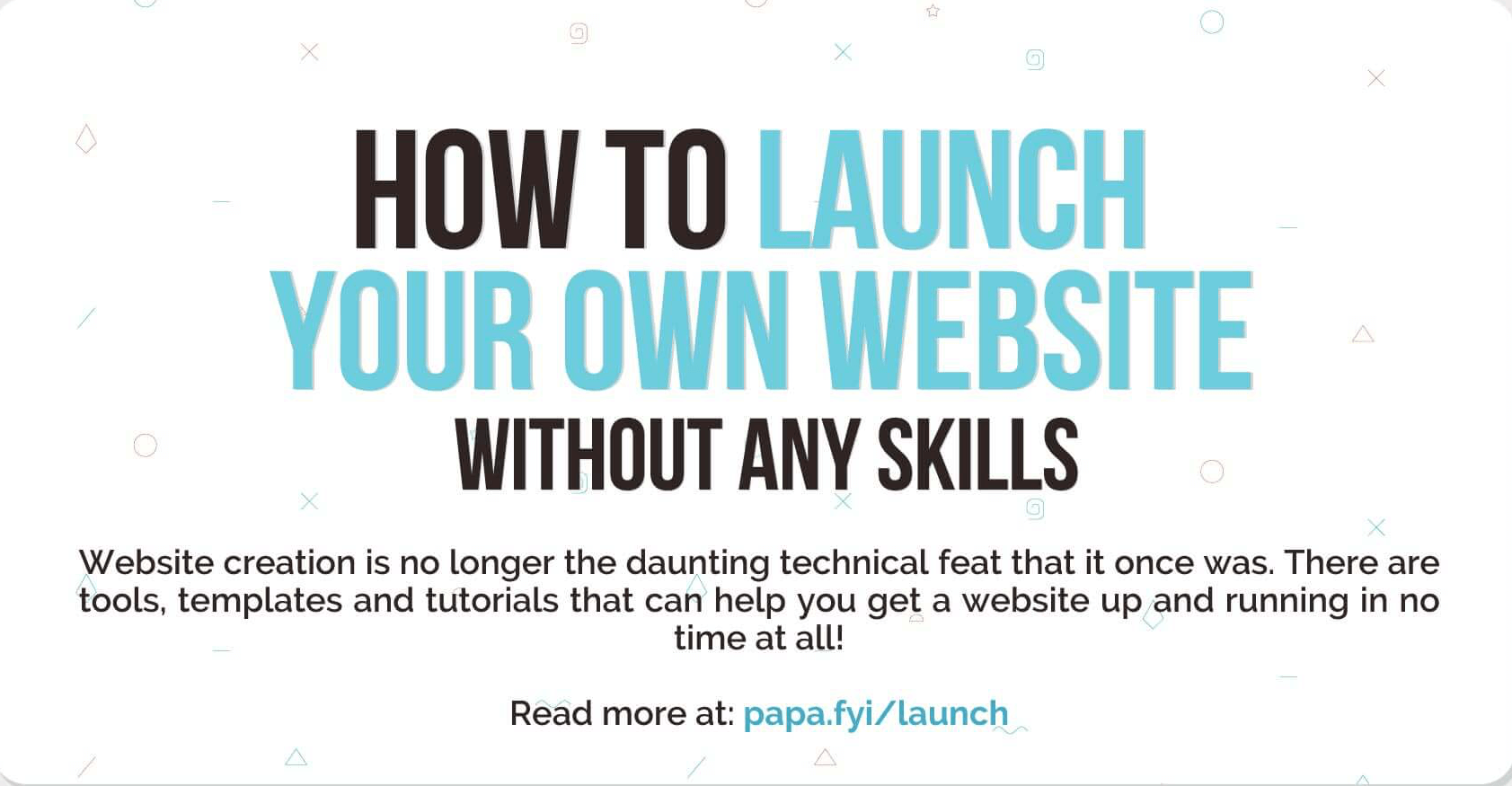How to launch your website without any skills