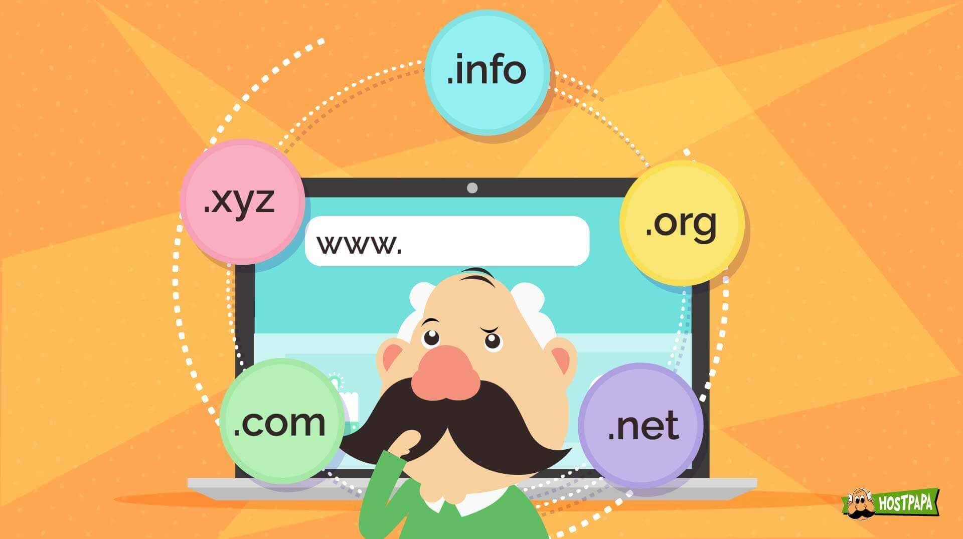 Choose the right domain name and extension